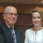 Η Αλεξάνδρα Σδούκου, συναντήθηκε σήμερα με τον πρέσβη του Ισραήλ στην Αθήνα,  Yiossi Armani