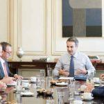 Συνάντηση του Πρωθυπουργού Κυριάκου Μητσοτάκη, με εκπροσώπους ενεργειακών εταιρειών