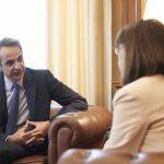 Με την Πρόεδρο της Δημοκρατίας,  συναντήθηκε ο Πρωθυπουργός