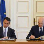 Η υπογραφή της συμφωνίας ΑΟΖ Ελλάδος και Ιταλίας