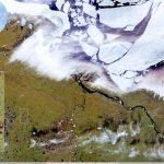 Εστία δασικής πυρκαγιάς, στο βορειότερο τμήμα του πολικού κύκλου στη Σιβηρία