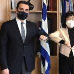 Συνάντηση του Υπουργού Περιβάλλοντος και Ενέργειας με την Πρέσβειρα της Κίνας