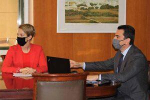 Τηλεδιάσκεψη Κώστα Σκρέκα, με την  Margrethe Vestager