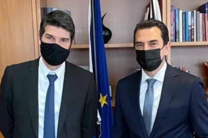 Κώστας Σκρέκας: Συνεργασία με γαλλικές επιχειρήσεις για τη δημιουργία κλιματικά ουδέτερου ελληνικού νησιού