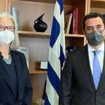 Συνάντηση του Υπουργού Περιβάλλοντος και Ενέργειας, με την Πρέσβη της Αυστρίας
