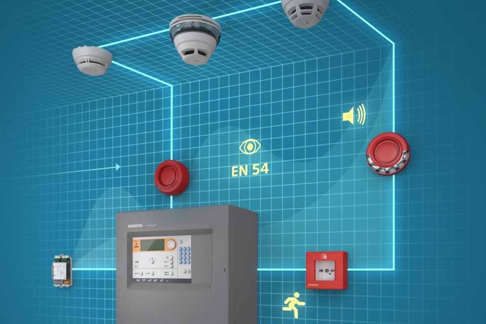 Το σύστημα πυροπροστασίας της Siemens παρέχει αποτελεσματική προστασία σε μικρά και μεσαία κτήρια