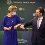Συνάντηση, Κώστα Σκρέκα- Margrethe Vestager
